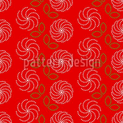 Gepunktete Kamelien Muster Design
