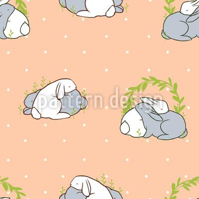 Kuschelnde Kaninchen Vektor Ornament
