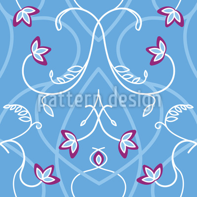 Blumengeflecht Am Gotischen Tor Nahtloses Muster