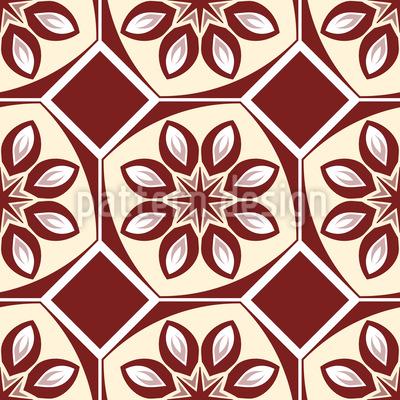 Noble Retro Fliese Muster Design