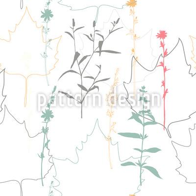 Wiese und Ahornblätter Rapport