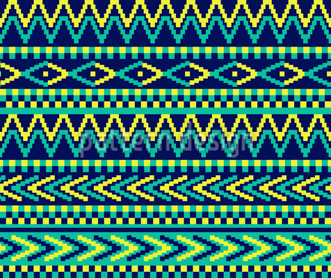 Traditionelles Pixel Muster Design