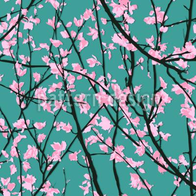 Schatten Im Frühjahr Nahtloses Vektormuster