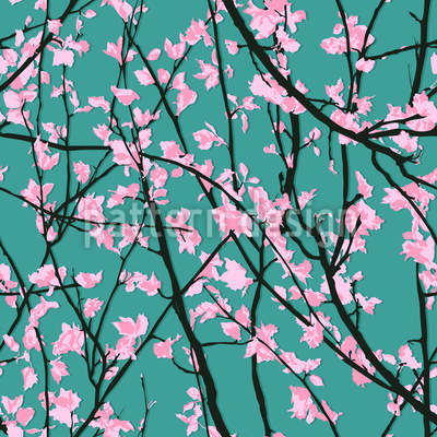 Shadow In Spring Seamless Vector Pattern Design