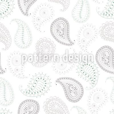Paisley und Punkte Vektor Ornament