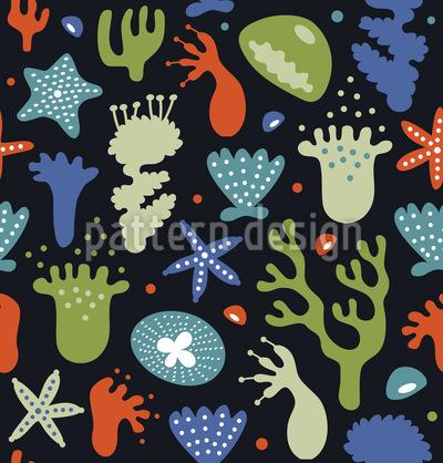 Korallen Vektor Muster