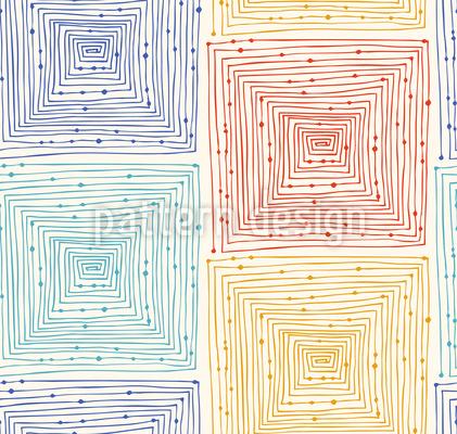Quadriertes Labyrinth Musterdesign