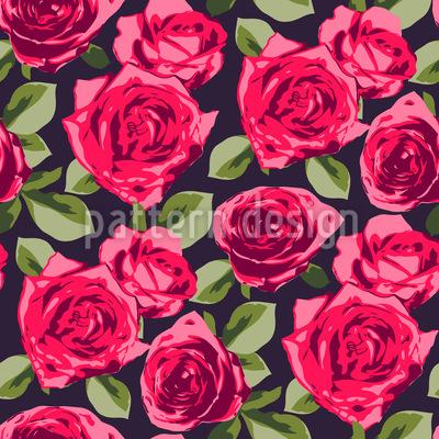 Rosen in der Mehrheit Musterdesign