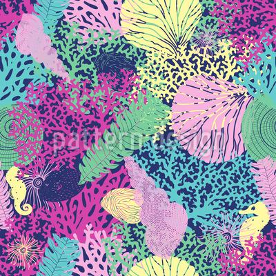 Coral Sea Seamless Vector Pattern Design