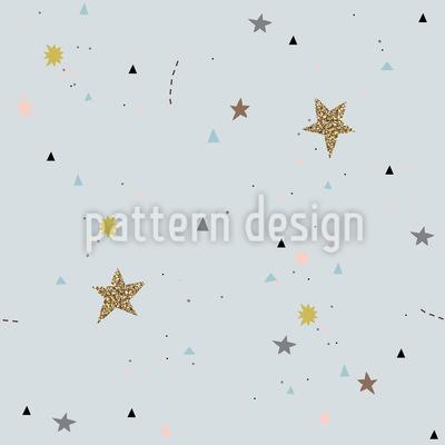 Heller Nachthimmel Nahtloses Vektor Muster