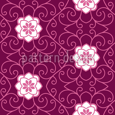 Sleeping Beauty Seamless Vector Pattern