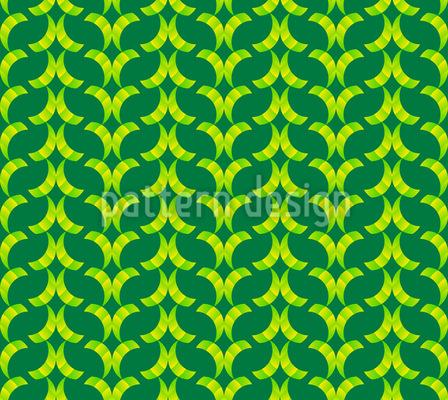 Netz der schwingenden Halbbögen Nahtloses Vektor Muster