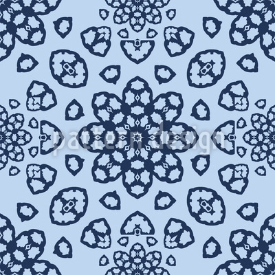 Gelochte Blüten Vektor Muster