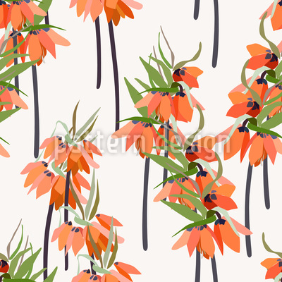 Lilien oder Orchideen Muster Design
