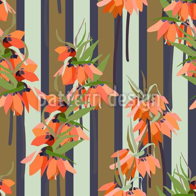Japanische Lilien-Streifen Designmuster