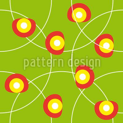 Florale Sommer Kreise Muster Design