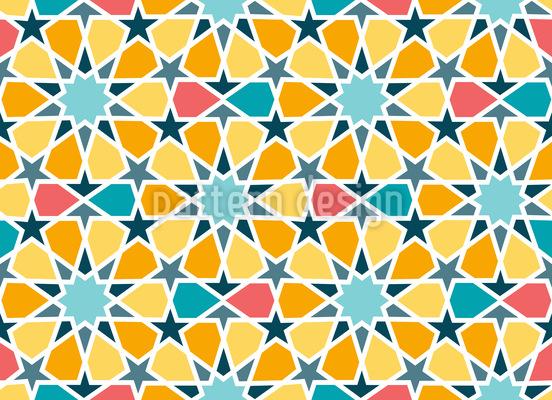 Arabische Sterne Fliesen Rapportiertes Design