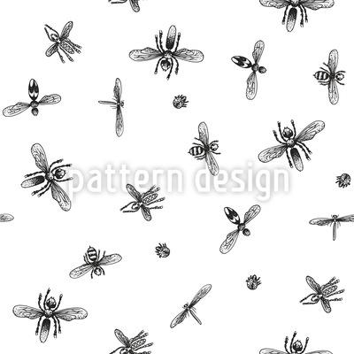 insektenschwarm nahtloses muster