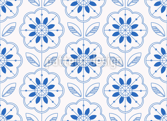 Scandinavian Style Line Art Repeat Pattern