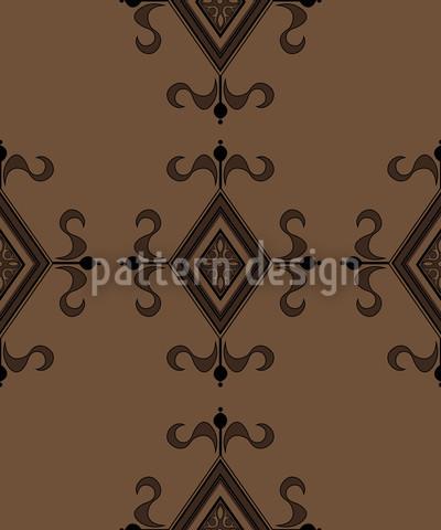 Gotik Braun Vektor Muster