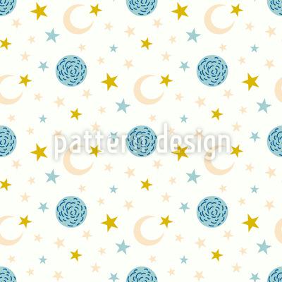 Mond Und Stern Muster Design