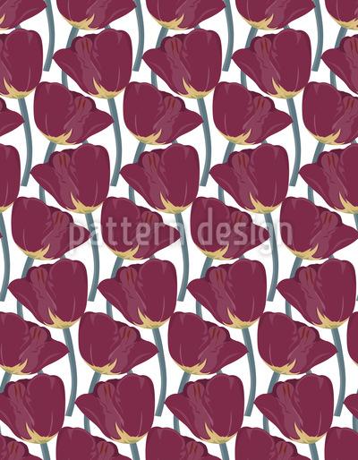Sortierte Tulpenernte Musterdesign