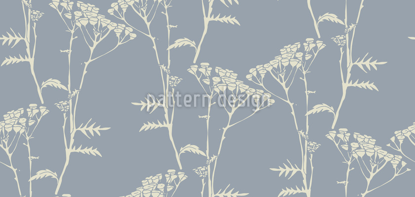 Delicate Tree Flowers Seamless Vector Pattern Design