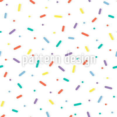 Sweet Sprinkles Seamless Vector Pattern Design