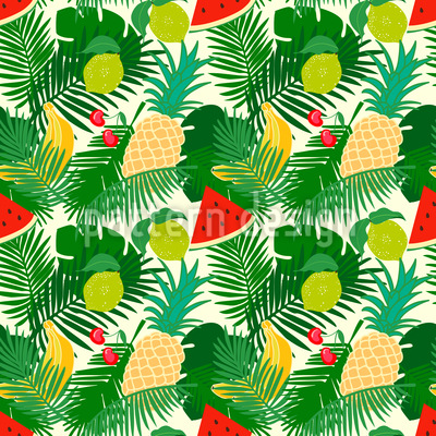Exotic Fruit Repeating Pattern