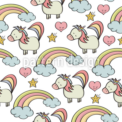 Unicorn And Friends Repeat Pattern