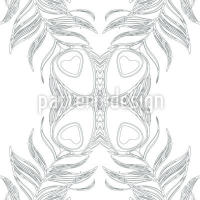 Pfauenfeder Schmetterling Vektor Muster