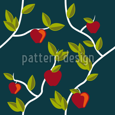 Garden Of Eden Night Seamless Vector Pattern Design
