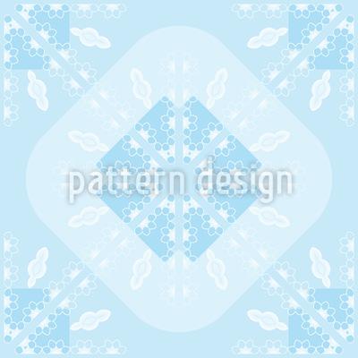 Gerundete Schneeflocke Muster Design