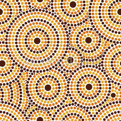 Aboriginal Dots Seamless Vector Pattern Design