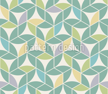 Leaves In Summer Seamless Vector Pattern Design