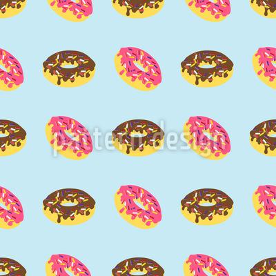Eine Schachtel Donuts Nahtloses Vektor Muster