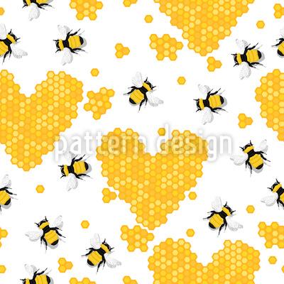 Ich Liebe Honig Muster Design