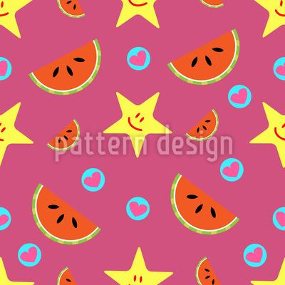 Wassermelonen und Herzen Muster Design
