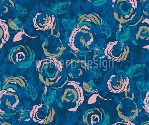 Rosen Im Wasserfall Vektor Ornament
