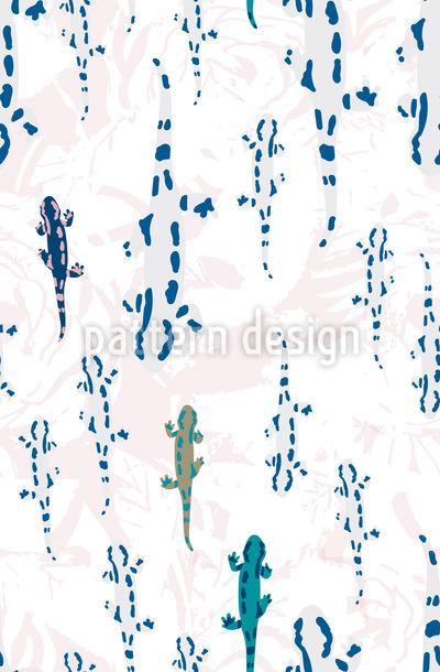 Salamanderwanderung Nahtloses Muster