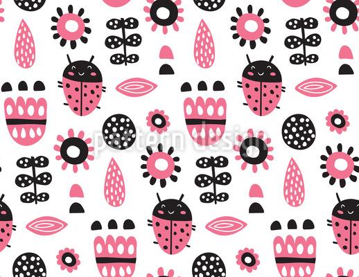 Skandinavischer Marienkäfer Muster Design