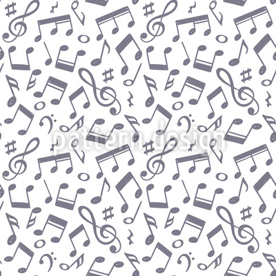 Hand Drawn Music Notes Vector Design