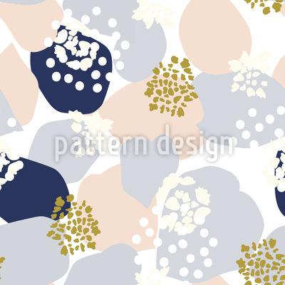 Abstrakte Hortensien und Blätter Rapport
