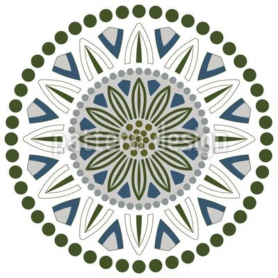 Blumen Punkte Und Kreise Vektor Muster