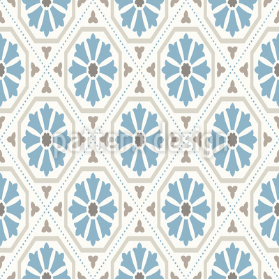 Kornblumen Geometrie Muster Design