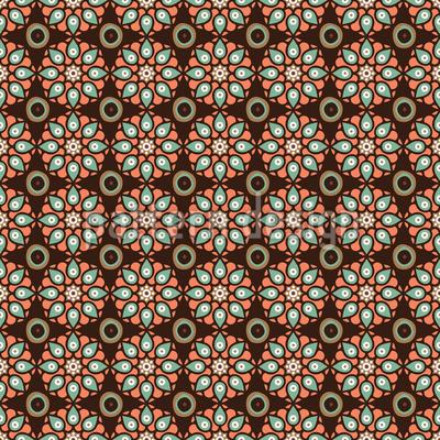 Blumen Sindhi Nahtloses Vektor Muster