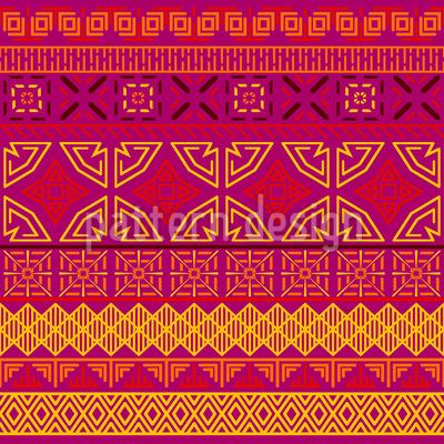 Oriental Zig Zag Seamless Vector Pattern Design