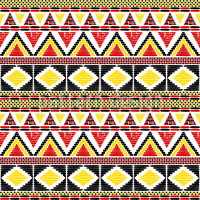 Afrikanische Stammesbordüre Nahtloses Vektor Muster