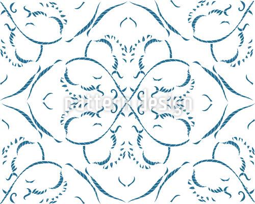 Lebendige Florale Linien Designmuster
