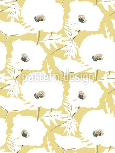 Elegante campo de amapola Estampado Vectorial Sin Costura